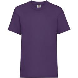Abbigliamento Unisex bambino T-shirt maniche corte Fruit Of The Loom 61033 Viola