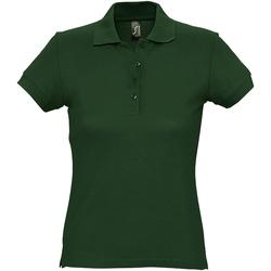 Abbigliamento Donna Polo maniche corte Sols 11338 Verde foresta
