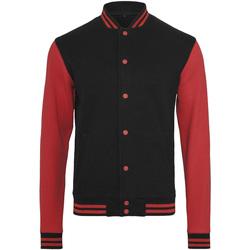 Abbigliamento Uomo Giubbotti Build Your Brand BY015 Nero/Rosso