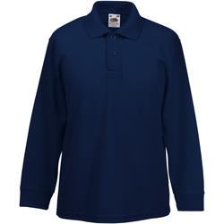 Abbigliamento Bambino Polo maniche lunghe Fruit Of The Loom 63201 Blu scuro