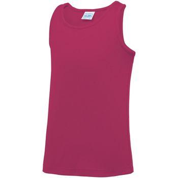 Abbigliamento Unisex bambino Top / T-shirt senza maniche Awdis JC07J Rosa acceso
