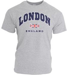 Abbigliamento Uomo T-shirt maniche corte England  Grigio Sport