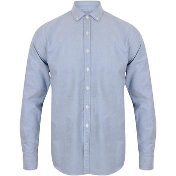 Abbigliamento Uomo Camicie maniche lunghe Front Row FR502 Azzurro