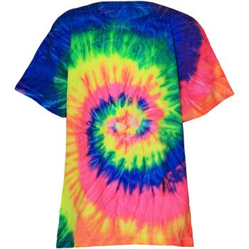 Abbigliamento Unisex bambino T-shirt maniche corte Colortone TD02B Arcobaleno neon