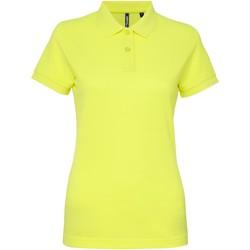 Abbigliamento Donna Polo maniche corte Asquith & Fox AQ025 Giallo neon