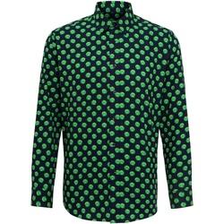 Abbigliamento Uomo Camicie maniche lunghe Christmas Shop Claus/Sprout Cavoletti di Bruxell/Blu