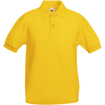 Abbigliamento Bambino Polo maniche corte Fruit Of The Loom 63417 Girasole