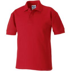 Abbigliamento Bambino Polo maniche corte Jerzees Schoolgear 65/35 Rosso