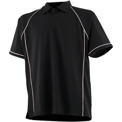 Abbigliamento Unisex bambino Polo maniche corte Finden & Hales LV372 Nero/Bianco