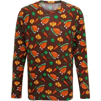 Abbigliamento Uomo T-shirts a maniche lunghe Christmas Shop CS002 Marrone