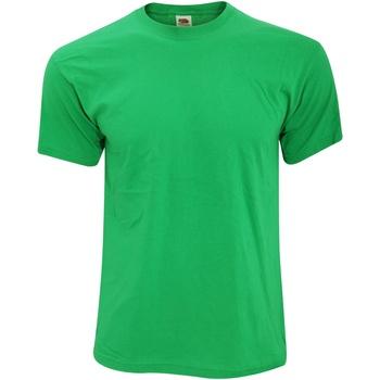 Abbigliamento Uomo T-shirt maniche corte Fruit Of The Loom 61082 Verde kelly