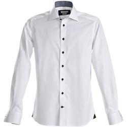 Abbigliamento Uomo Camicie maniche lunghe J Harvest & Frost Red Bow Bianco/Nero
