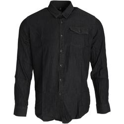 Abbigliamento Uomo Camicie maniche lunghe Premier PR222 Nero