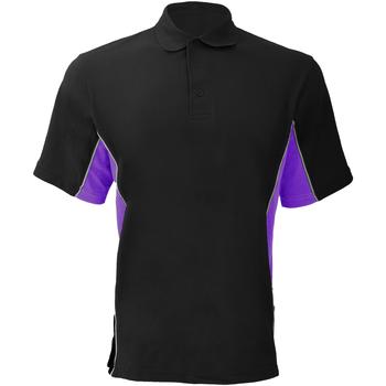 Abbigliamento Uomo Polo maniche corte Gamegear KK475 Nero/Viola/Bianco