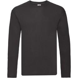 Abbigliamento Uomo T-shirts a maniche lunghe Fruit Of The Loom Original Nero