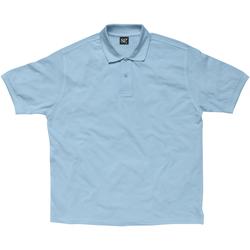 Abbigliamento Donna Polo maniche corte Sg SG59F Azzurro cielo