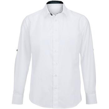 Abbigliamento Uomo Camicie maniche lunghe Alexandra Hospitality Bianco/Nero