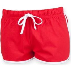 Abbigliamento Unisex bambino Shorts / Bermuda Skinni Fit SM069 Rosso/Bianco