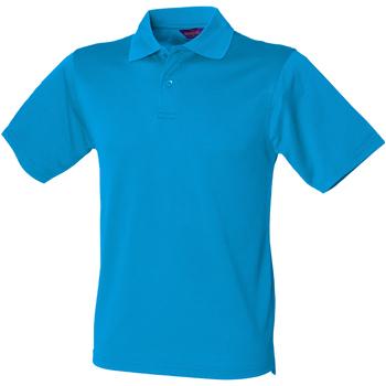 Abbigliamento Uomo Polo maniche corte Henbury HB475 Blu zaffiro