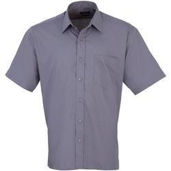 Abbigliamento Uomo Camicie maniche corte Premier PR202 Grigio acciaio