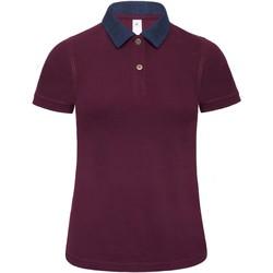 Abbigliamento Donna Polo maniche corte B And C B803F Denim/Bordeaux