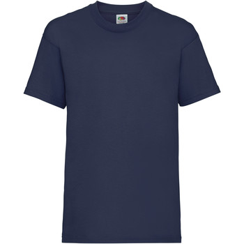 Abbigliamento Unisex bambino T-shirt maniche corte Fruit Of The Loom 61033 Blu navy