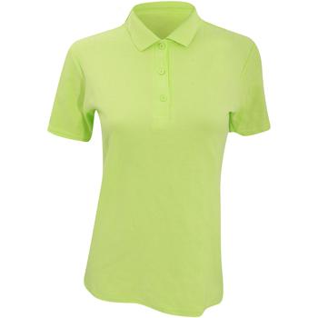 Abbigliamento Donna Polo maniche corte Anvil 6280L Lime