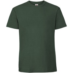 Abbigliamento Uomo T-shirt maniche corte Fruit Of The Loom 61422 Verde bottiglia