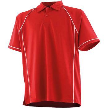 Abbigliamento Unisex bambino Polo maniche corte Finden & Hales LV372 Rosso/Bianco