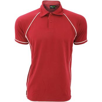 Abbigliamento Uomo Polo maniche corte Finden & Hales Piped Rosso/Bianco
