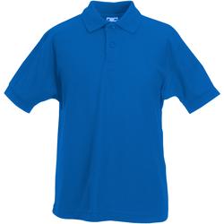 Abbigliamento Bambino Polo maniche corte Fruit Of The Loom 63417 Blu reale