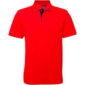 Abbigliamento Uomo Polo maniche corte Asquith & Fox AQ012 Rosso/Blu navy