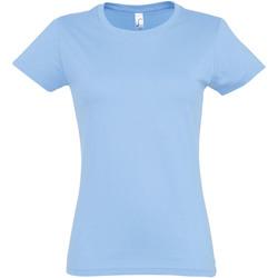 Abbigliamento Donna T-shirt maniche corte Sols 11502 Azzurro cielo