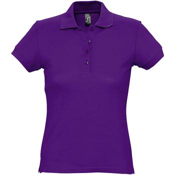 Abbigliamento Donna Polo maniche corte Sols 11338 Viola scuro