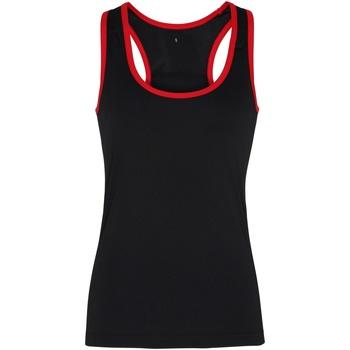 Abbigliamento Donna Top / T-shirt senza maniche Tridri TR023 Nero/Rosso