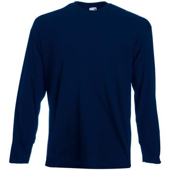 Abbigliamento Uomo T-shirts a maniche lunghe Universal Textiles 61038 Blu notte