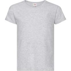 Abbigliamento Bambina T-shirt maniche corte Fruit Of The Loom Valueweight Erica grigia