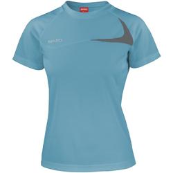 Abbigliamento Donna T-shirt maniche corte Spiro S182F Verde acqua/Grigio