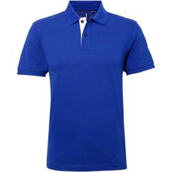 Abbigliamento Uomo Polo maniche corte Asquith & Fox AQ012 Blu reale/Bianco