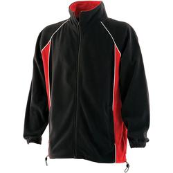 Abbigliamento Uomo Felpe in pile Finden & Hales LV550 Nero/Rosso/Bianco