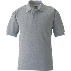 Abbigliamento Bambino Polo maniche corte Jerzees Schoolgear 65/35 Grigio chiaro