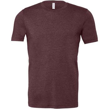 Abbigliamento Uomo T-shirt maniche corte Bella + Canvas CA3001 Bordeaux screziato