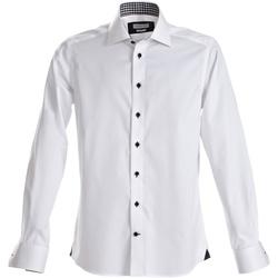 Abbigliamento Uomo Camicie maniche lunghe J Harvest & Frost Red Bow Bianco/Navy
