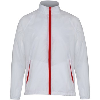 Abbigliamento Uomo giacca a vento 2786 TS011 Bianco/Rosso