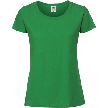 Abbigliamento Donna T-shirt maniche corte Fruit Of The Loom SS424 Verde kelly