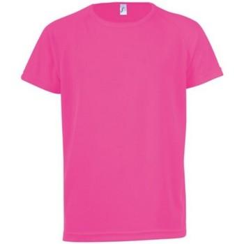 Abbigliamento Unisex bambino T-shirt maniche corte Sols Sporty Rosa Neon