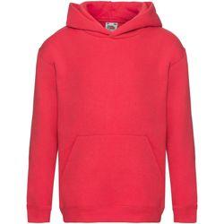 Abbigliamento Unisex bambino Felpe Fruit Of The Loom SS873 Rosso
