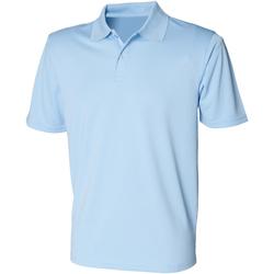Abbigliamento Uomo Polo maniche corte Henbury HB475 Azzurro