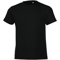 Abbigliamento Bambino T-shirt maniche corte Sols 01183 Nero