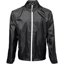 Abbigliamento Uomo giacca a vento 2786 TS011 Nero/Bianco